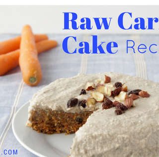 Raw Carrot Cake Recipe with Cashew Frosting and Superfoods