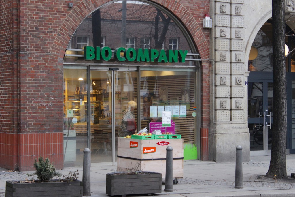 Bio Company, a bio supermarket with a small cafe section in Hamburg