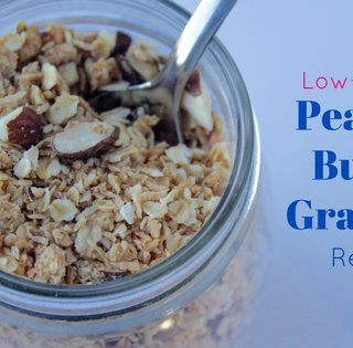 Low Sugar Granola Recipe with Peanut Butter & Coconut