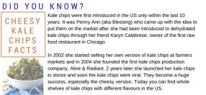 Cheesy kale chips facts